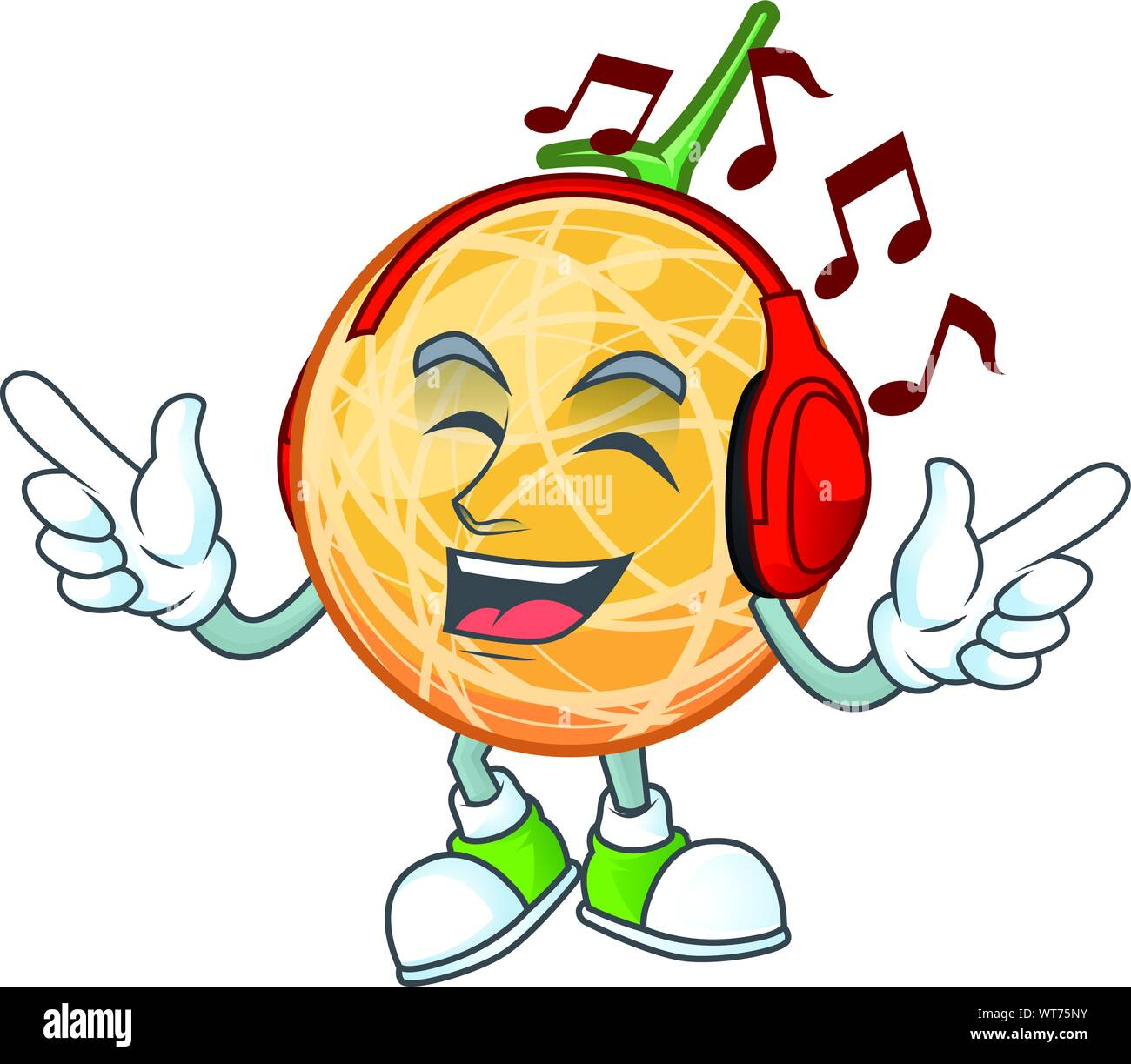 Listening Music Healthy Cantaloupe Fruit In Cartoon Character Stock Vector Image Art Alamy Find the latest tracks, albums cantaloupe is either: https www alamy com listening music healthy cantaloupe fruit in cartoon character image273065463 html