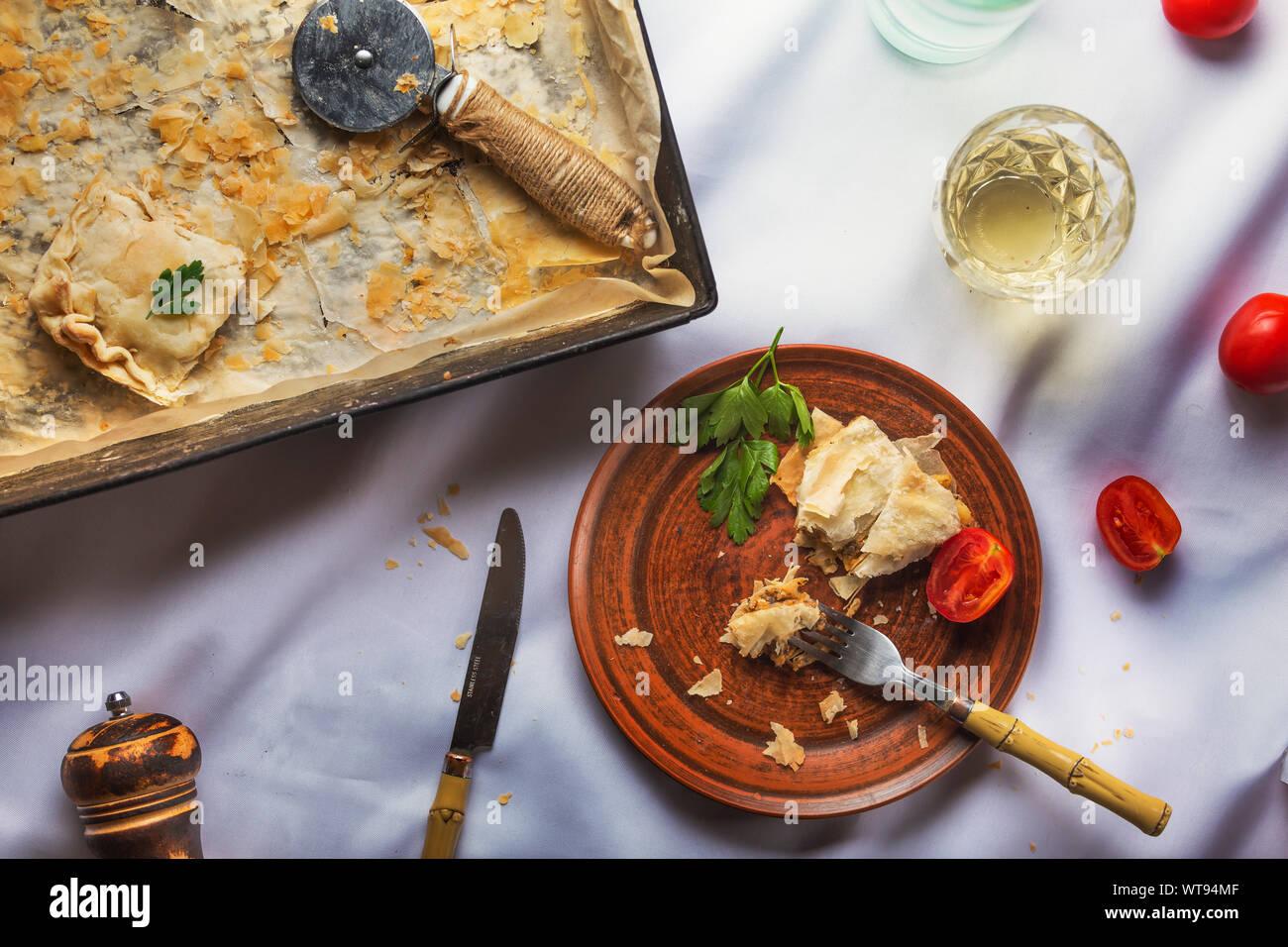 christmas dinner, thanksgiving dinner, thanksgiving decorations, dinner, puff pastry, table runner, appetizer recipes, checklist, mississippi, puff Stock Photo