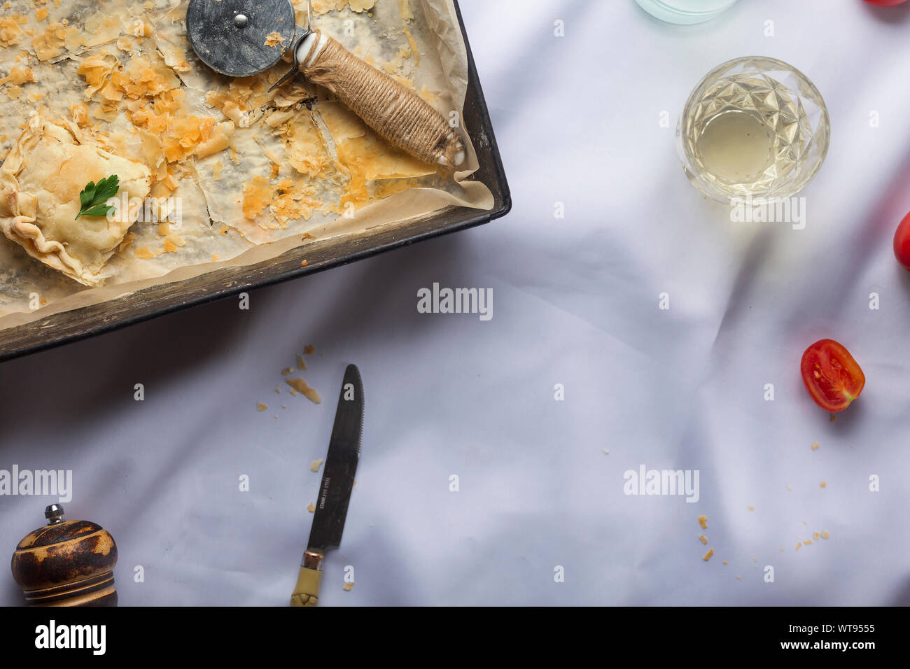 hot water crust, crust recipe, french canadian, pastry, shepherd's pie recipe, pie maker, kidney pie, tourtiere Stock Photo