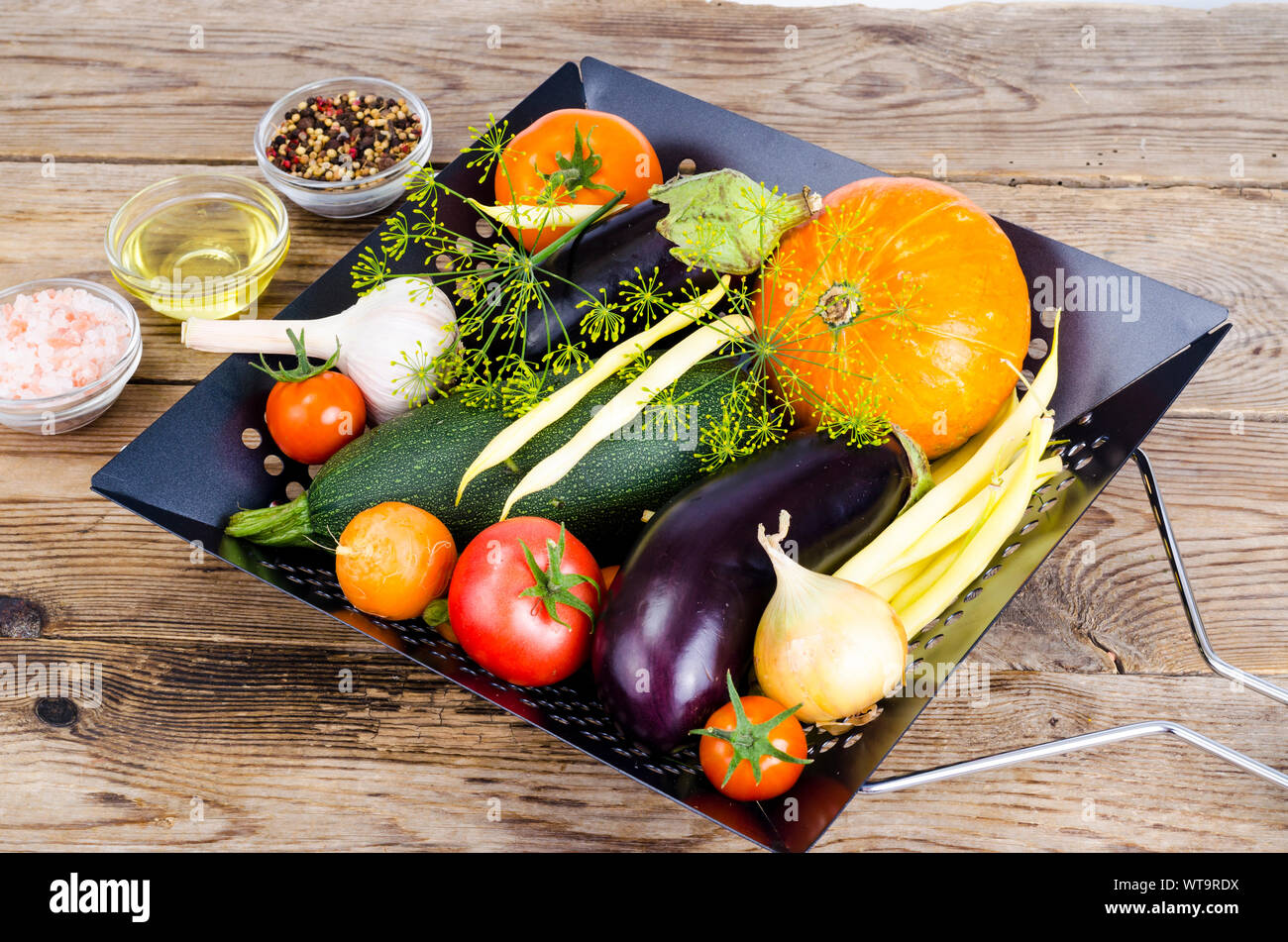 Homemade bio vegetables for baking. Studio Photo Stock Photo