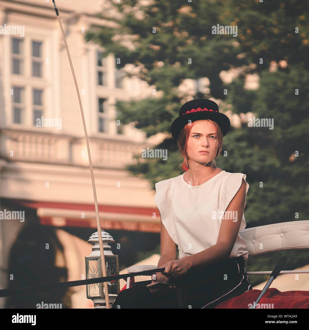 Candid shot of a coachwoman Stock Photo