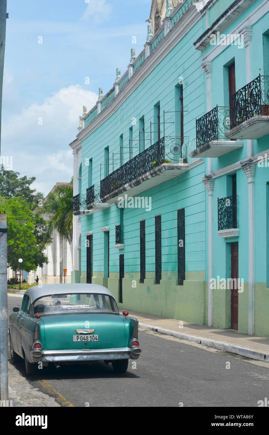 Old town of Camagüey (Cuba), a UNESCO World Heritage Site Stock Photo
