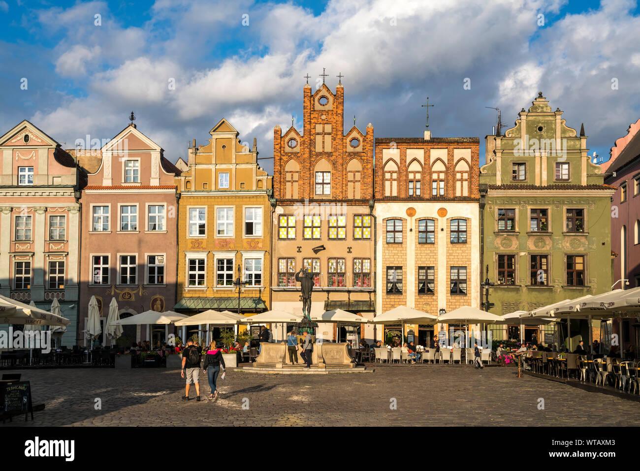 Alter Markt in Posen, Polen, Europa  | Old marketplace,  Poznan, Poland, Europe Stock Photo