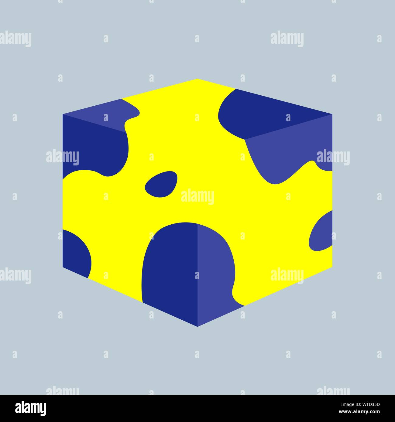 3D Cube. Vector illustration for your design. EPS 10 Stock Vector