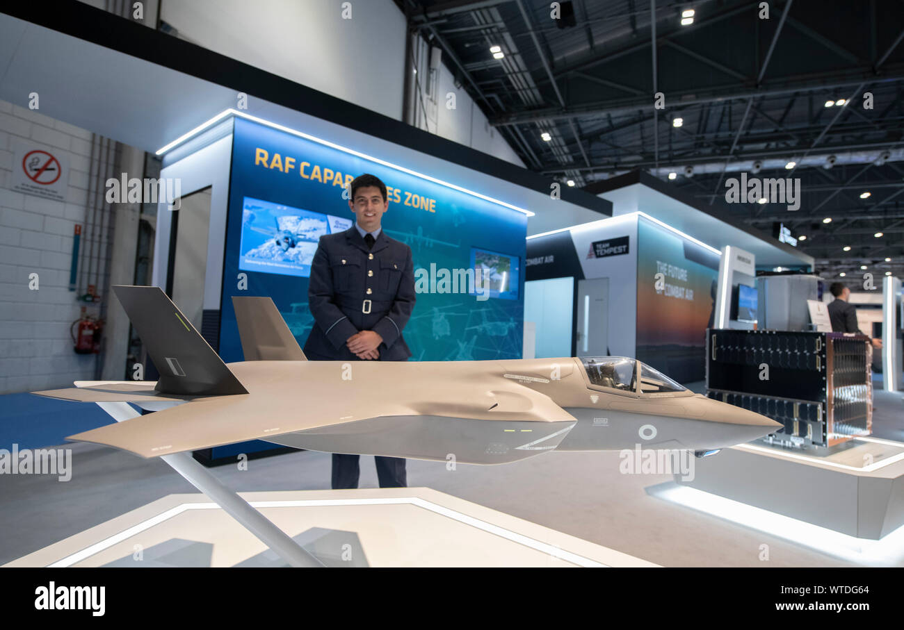 ExCel, London, UK. Defence & Security Equipment International (DSEI) event runs from 10th-13th September 2019, the worlds biggest arms fair. Stock Photo