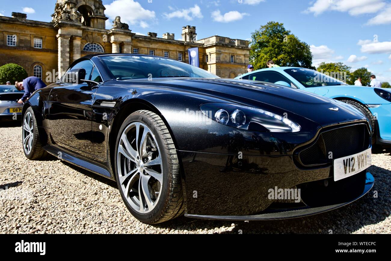 Aston Martin Vantage S V12 Roadster On Show At The Great Court At Blenheim Palace On The 8th September 2019 Stock Photo Alamy