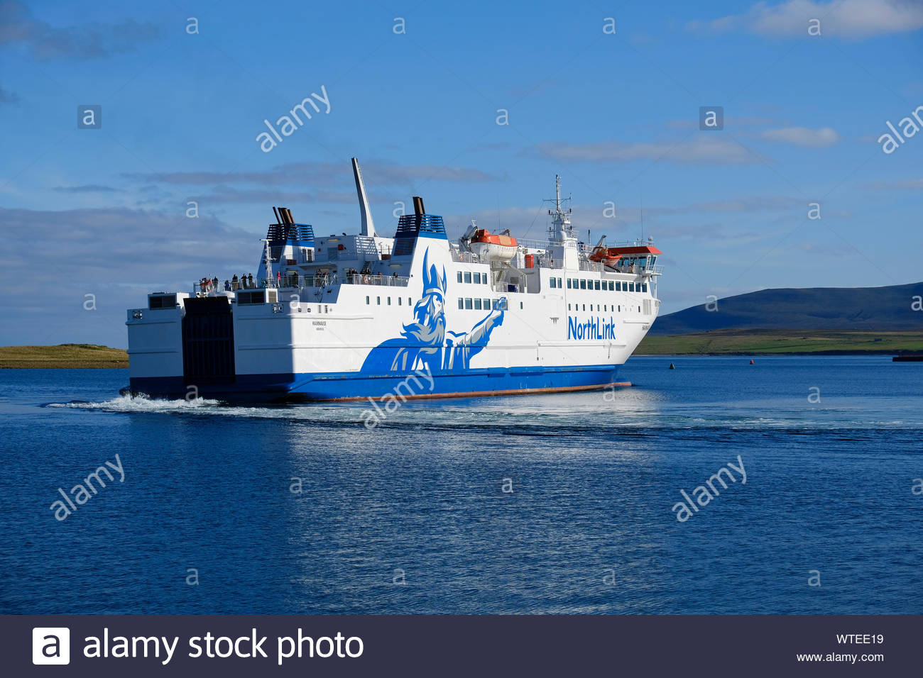Northlink Car And Passenger Ferry Mv Hamnavoe Departing Stromness Harbour Orkney For Scrabster On Mainland Scotland Stock Photo 273225605 Alamy