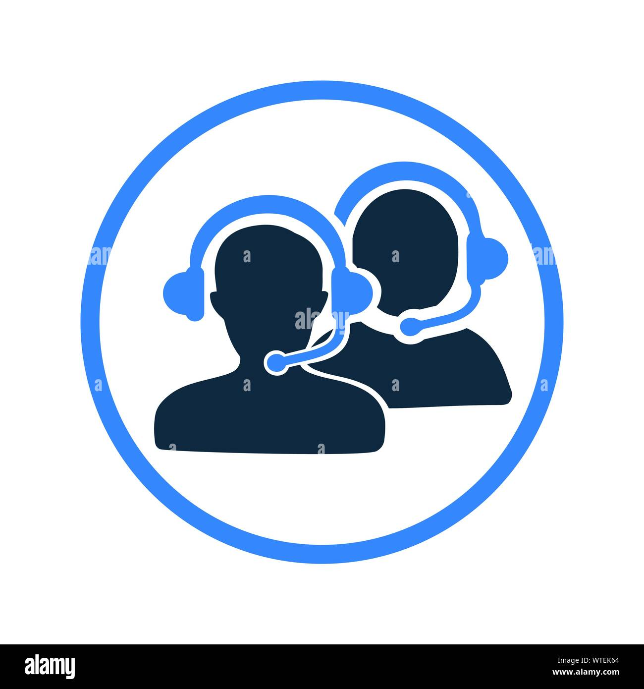 Customer Support Icon, call center Stock Vector