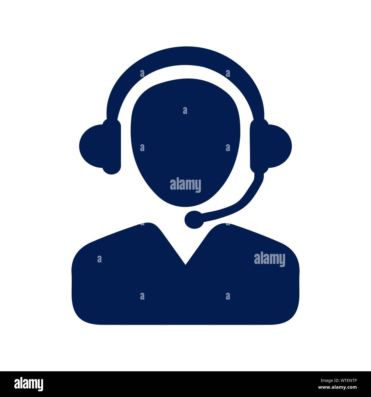 Customer Support Icon, call center Stock Vector