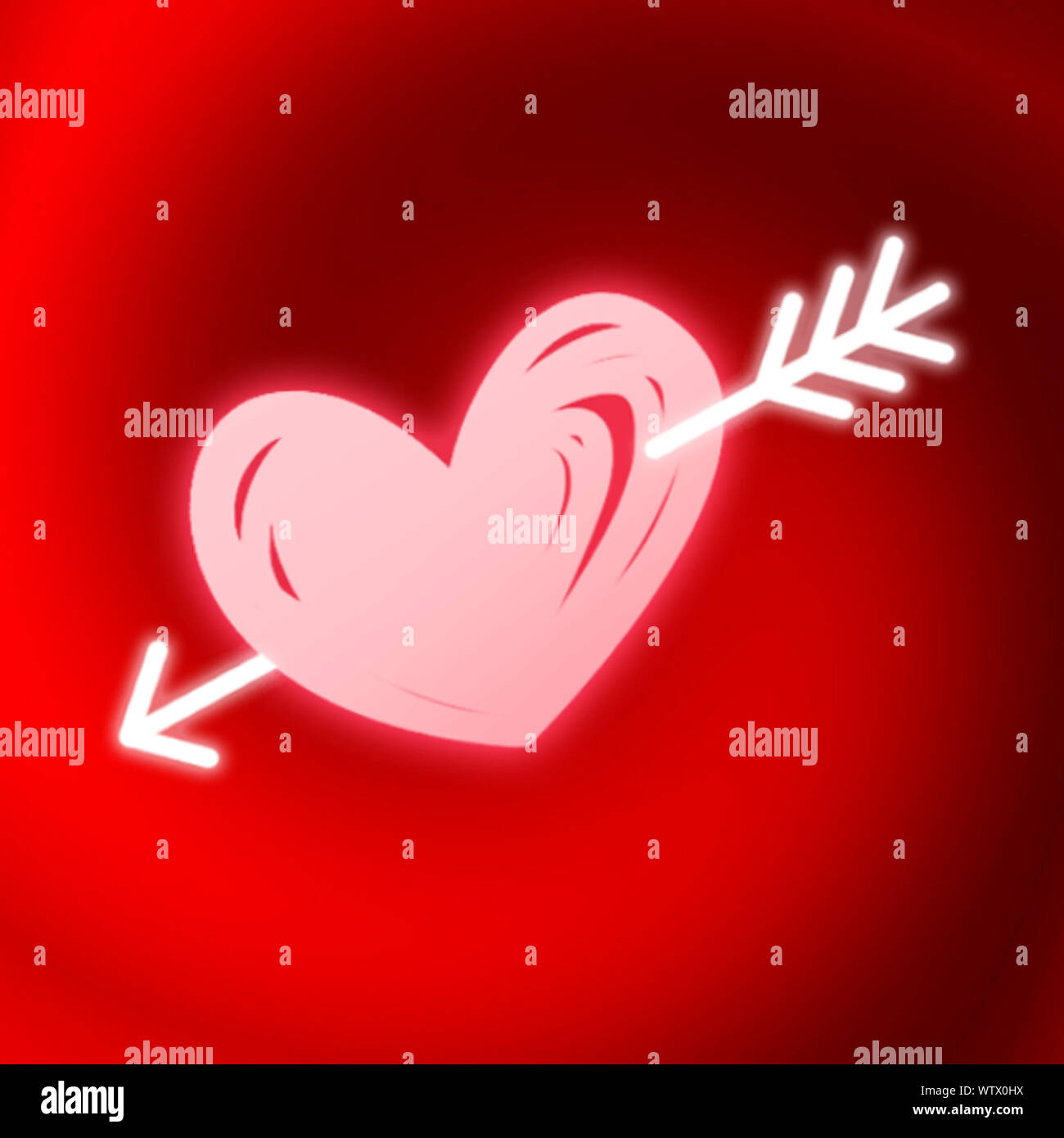 beautiful red and pink motley romantic gradient background wonderful wallpaper in neon valentine card design and other web use WTX0HX