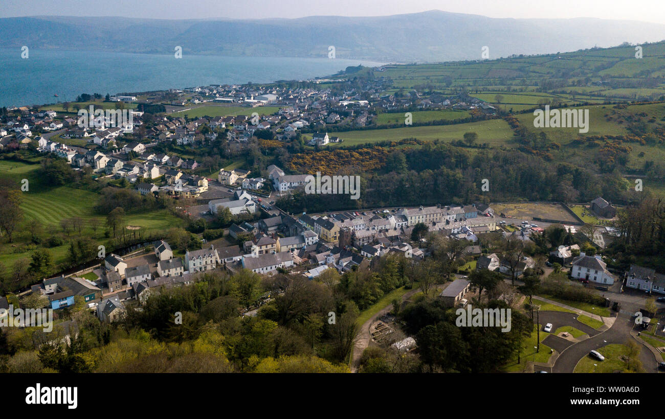 Cushendall, formerly known as Newtown Glens, is a village and townland in County Antrim, Northern Ireland. Stock Photo