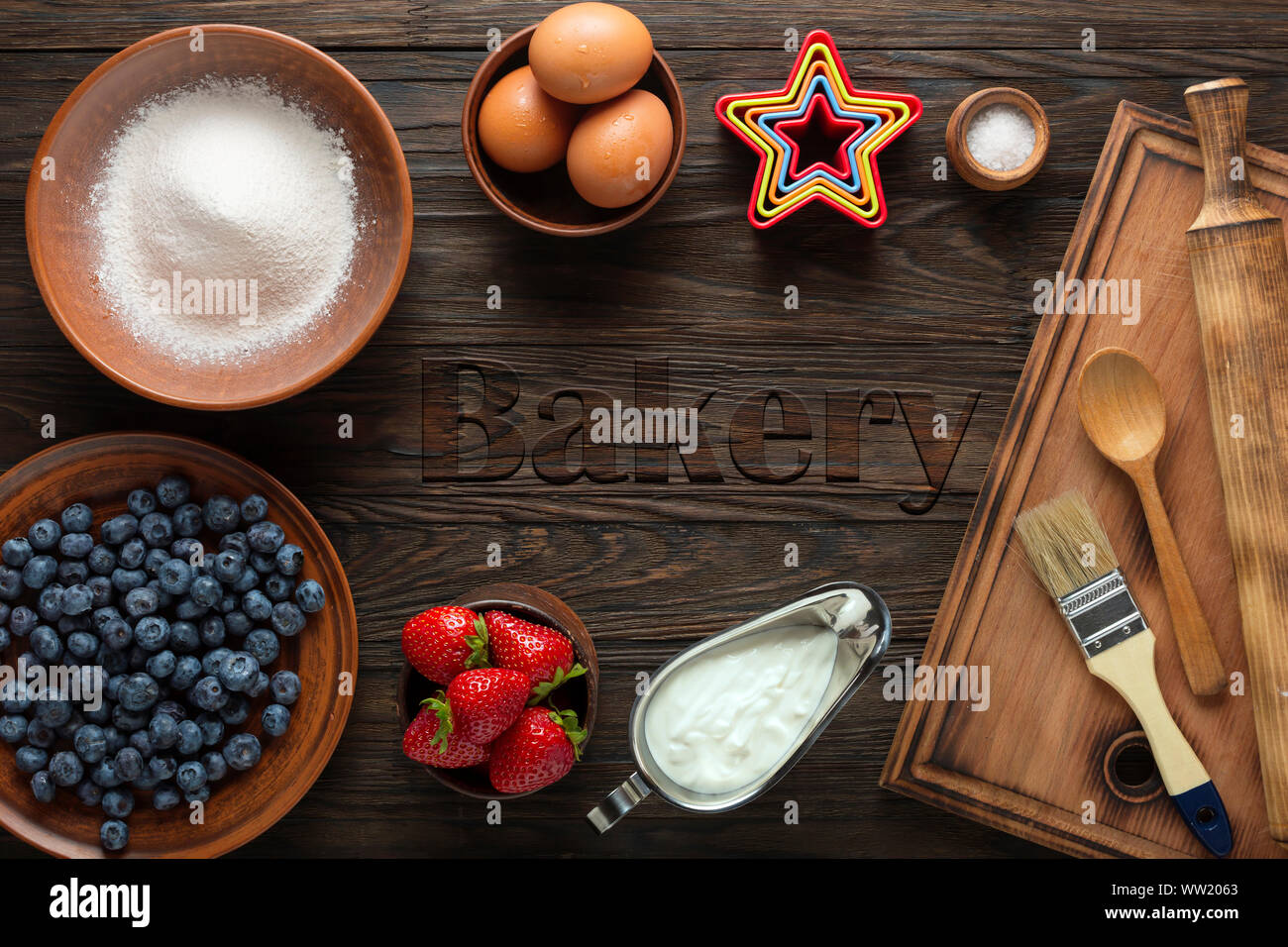 fotolia, ambrosia bakery, adobe stock, sweet, template, croissant, banner, yelp, gluten Stock Photo
