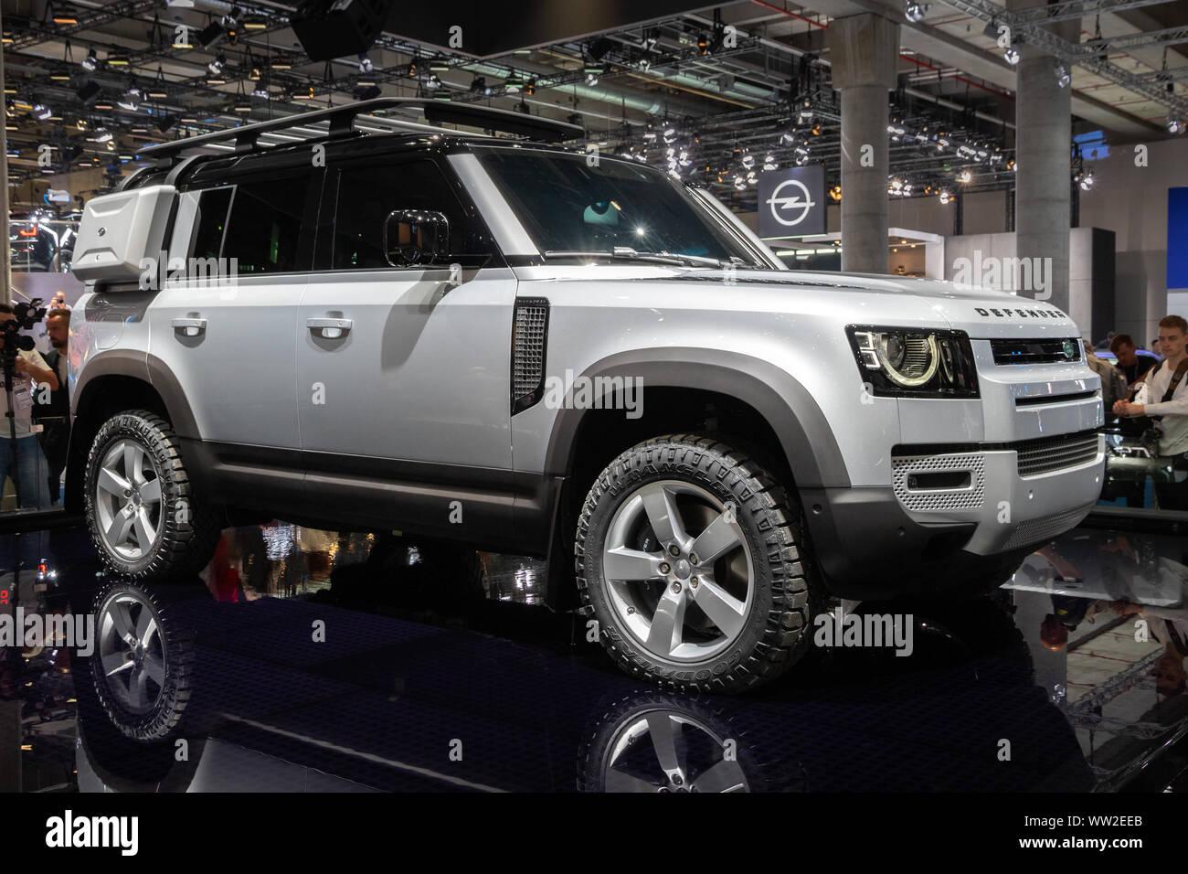 Frankfurt Auto Show 2020.Frankfurt Germany Sep 10 2019 New 2020 Land Rover