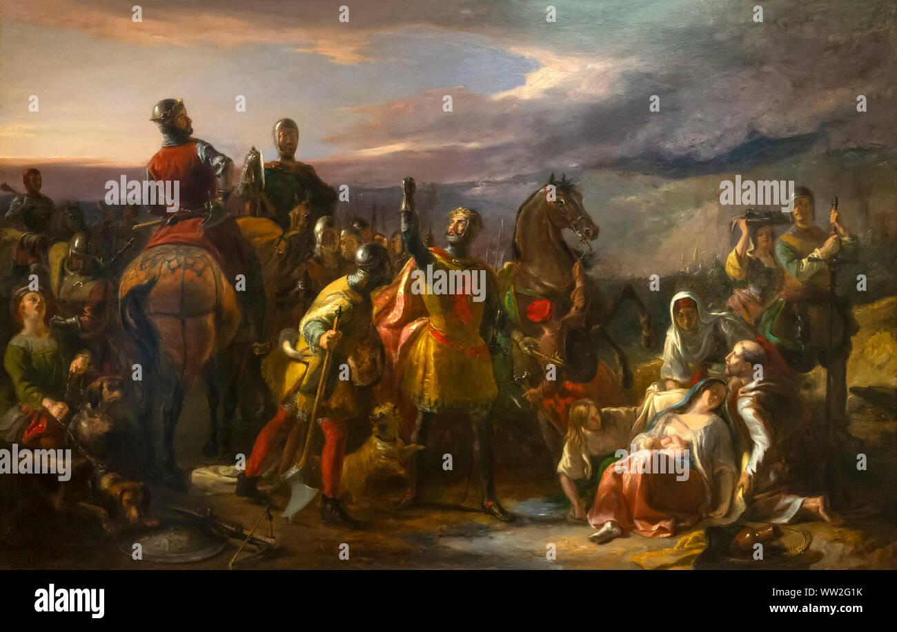 Heroism and Humanity, William Allan, circa 1840, Stock Photo