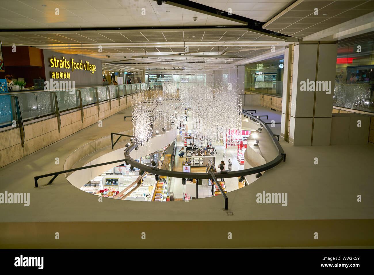 SINGAPORE - CIRCA APRIL, 2019: Cosmetics & Perfumes by The Shilla Duty Free in Changi International Airport. Stock Photo