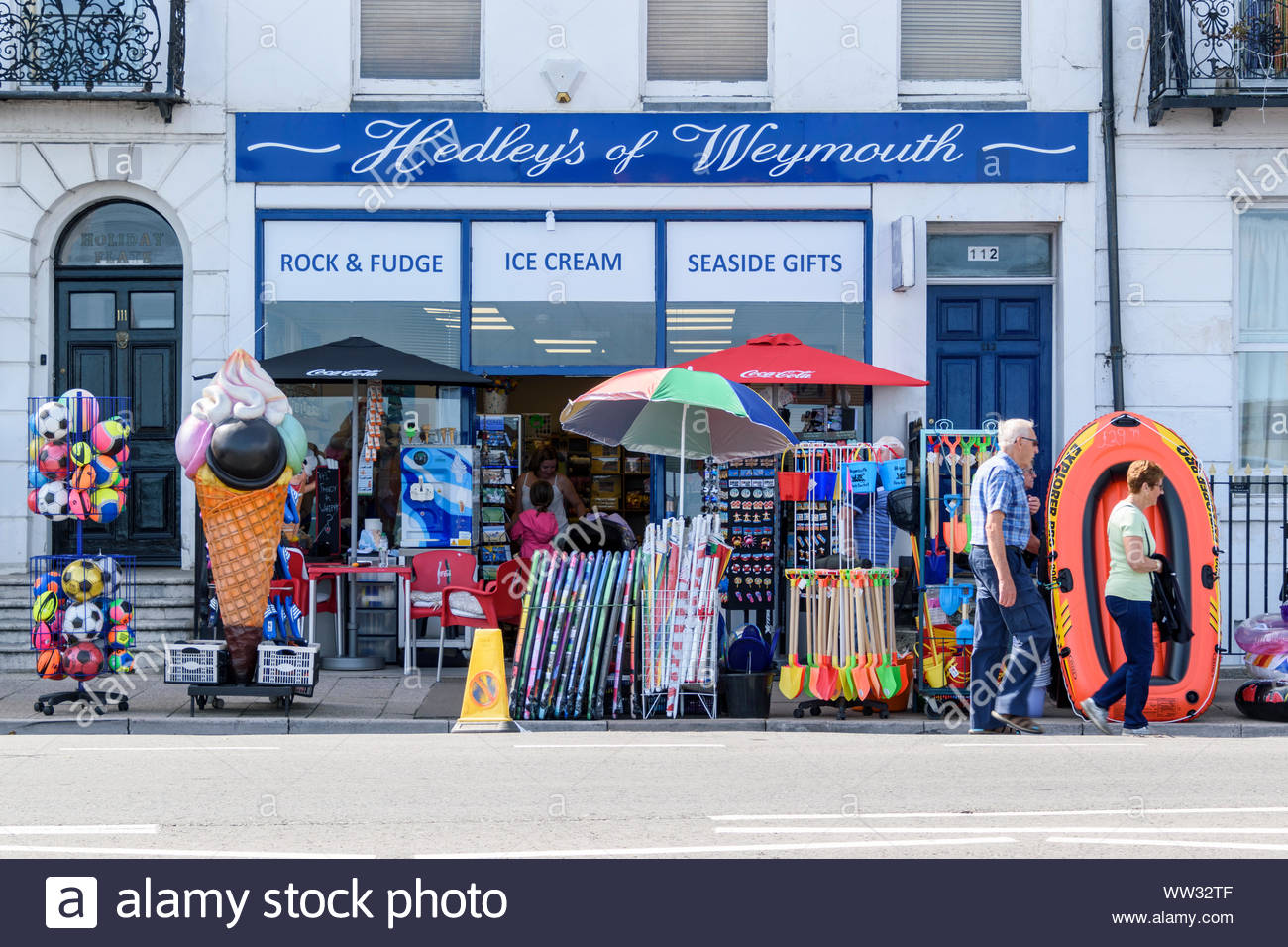 Hedley's of Weymouth, seaside gift shop at Weymouth in Dorset, England, UK Stock Photo