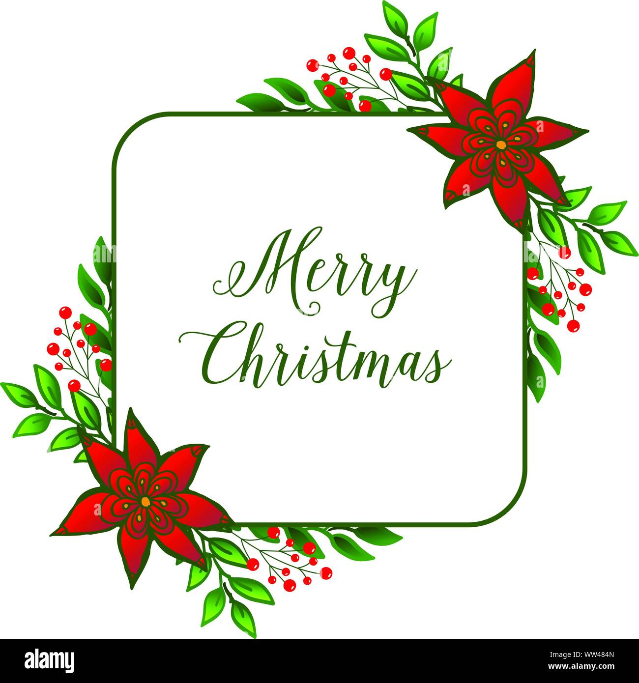 Christmas Celebration Images For Drawing.Lettering Celebration Of Merry Christmas Drawing Of Red