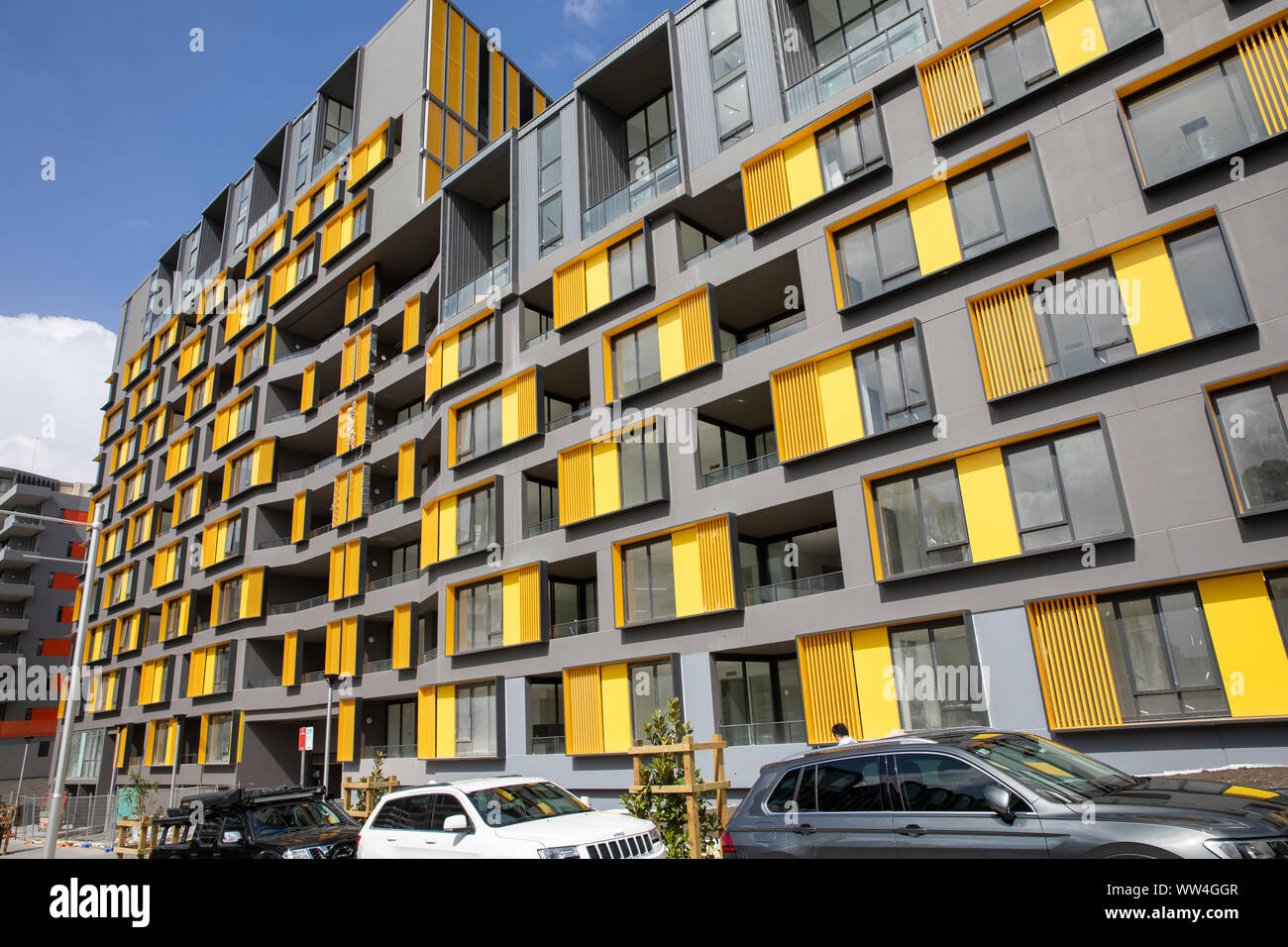 High rise residential units and apartments newly built in  Ryde in Sydney,New South Wales,Australia Stock Photo