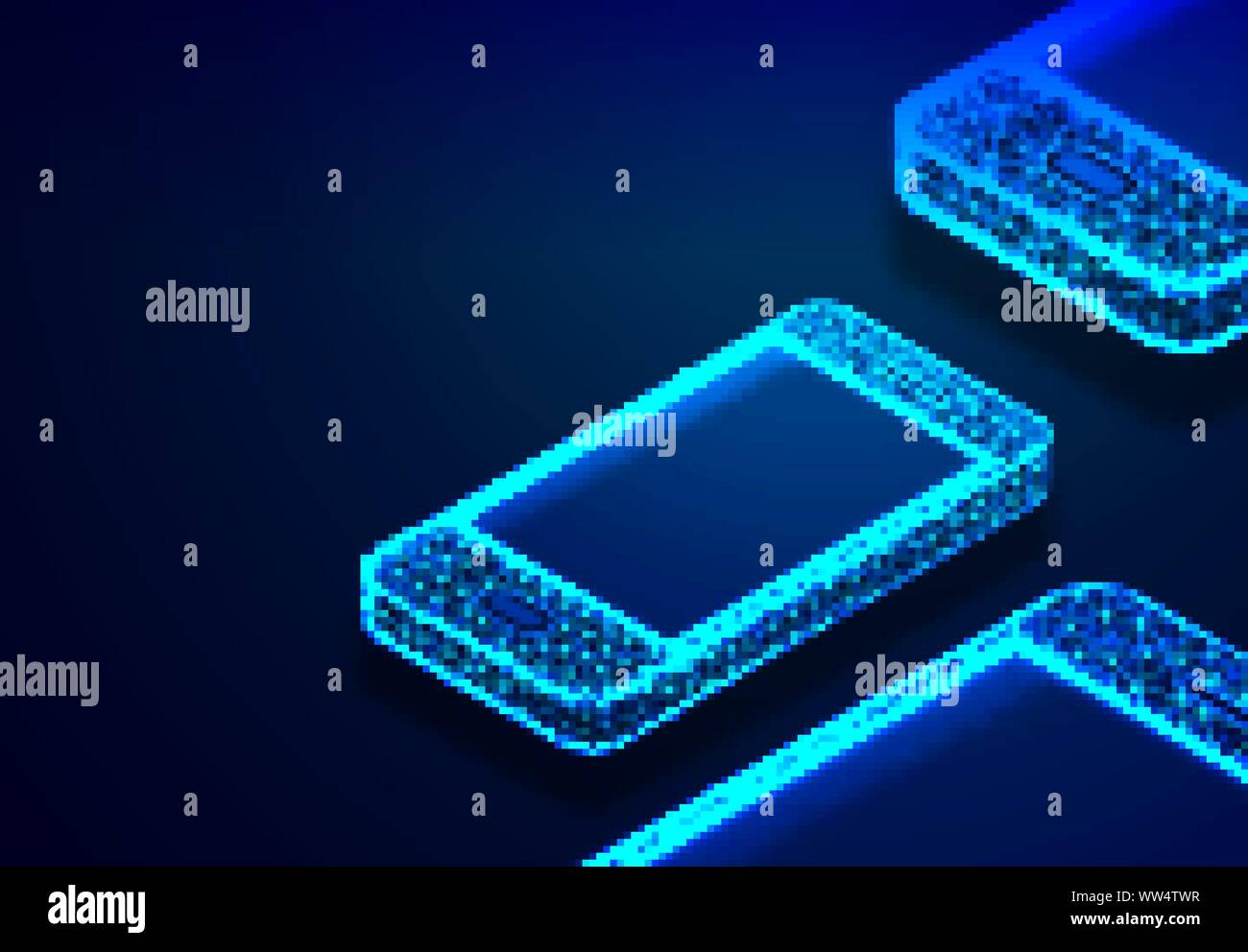 Meet All Your Charging Equipment Data Lines Low Poly Rainbow Abstract Background Vector