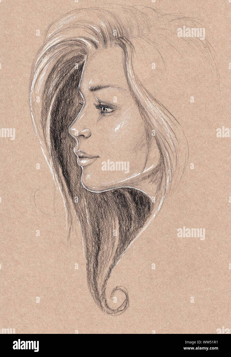 Pretty Girl Drawing High Resolution Stock Photography And Images Alamy