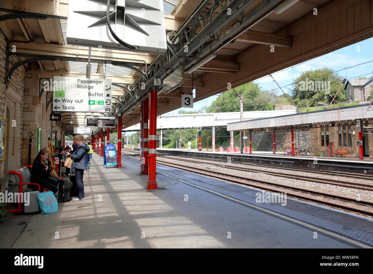 Platform 3 At Lancaster Station Where Most Trains Are Travelling In A Northerly Direction Stock Photo Alamy