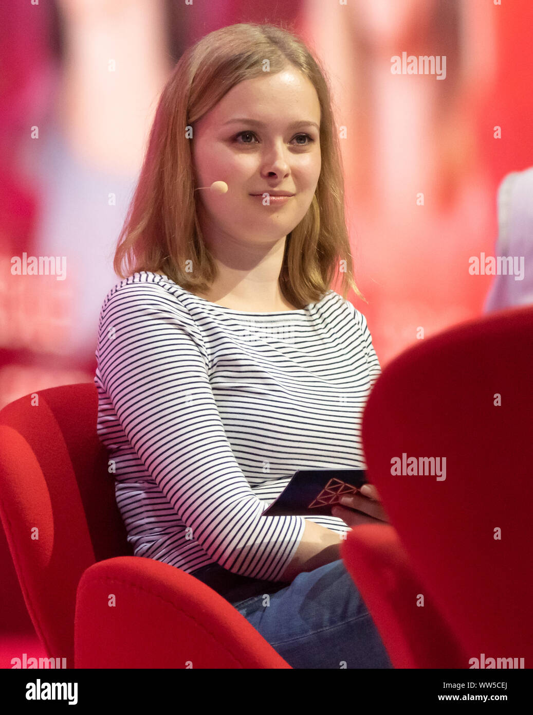 Cologne, Germany, 12.09.2019, DMEXCO digital marketing expo and conference: Youtuber Lisa Sophie Laurent. Stock Photo