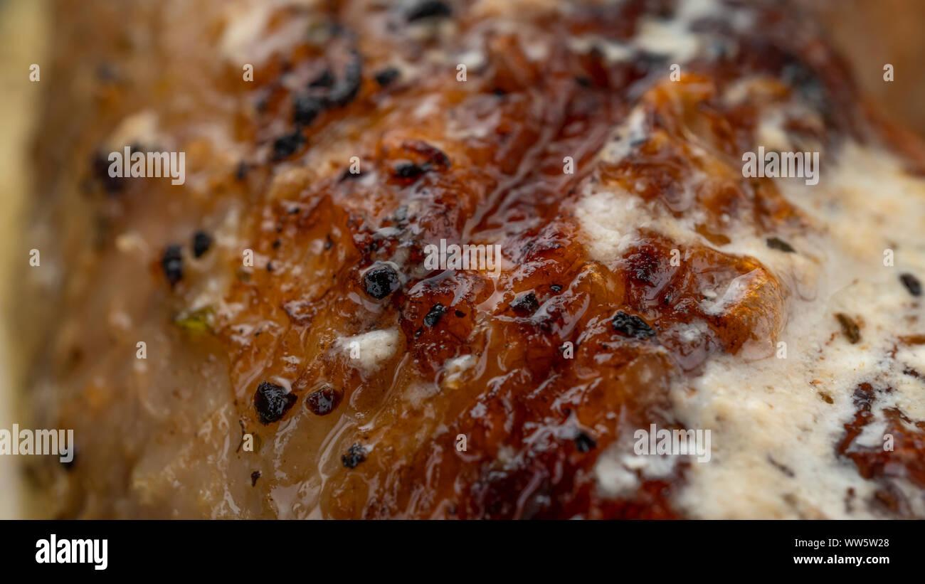 air fryer chicken wings, roasted chicken, oven fried, baked chicken, chicken breasts, golden, chicken recipe, boneless chicken Stock Photo