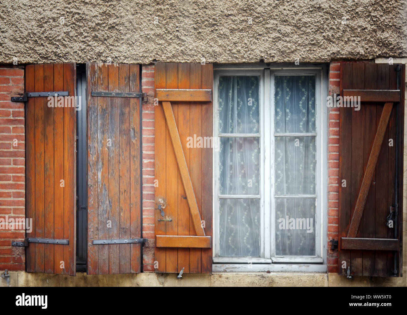 Windows And Shutters In The Small Houses Of The Outskirts Of