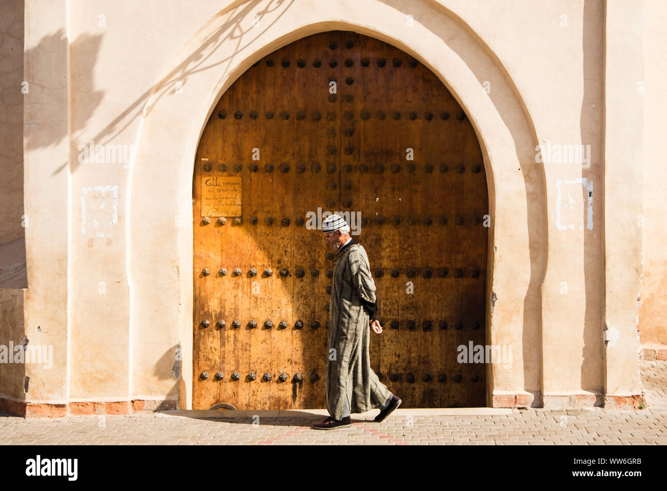 Street scene in Marrakech, Morocco Stock Photo