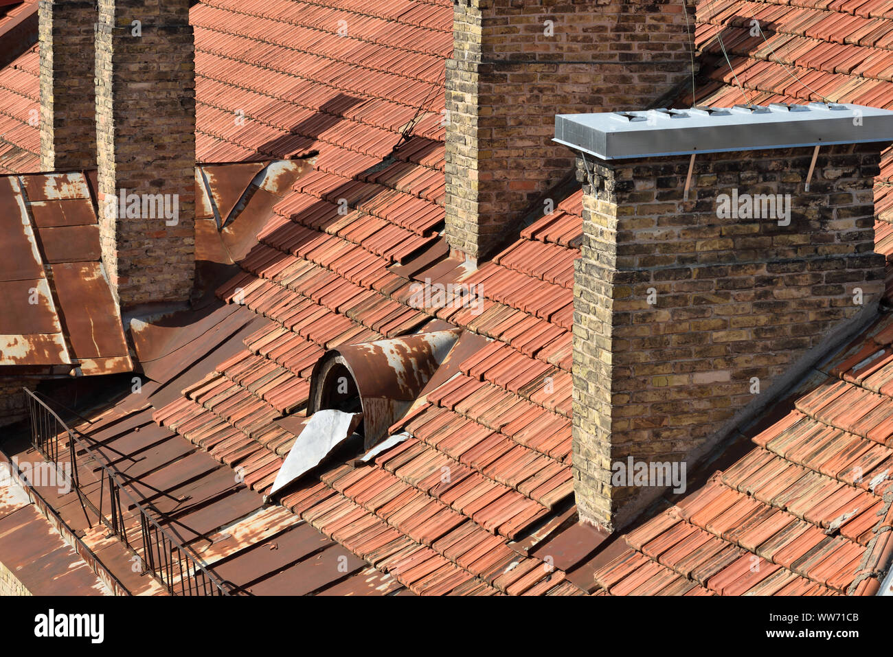 Old Clay Roof Tiles Detail Of A House Roof Made With Red Clay Tiles Stock Photo Alamy