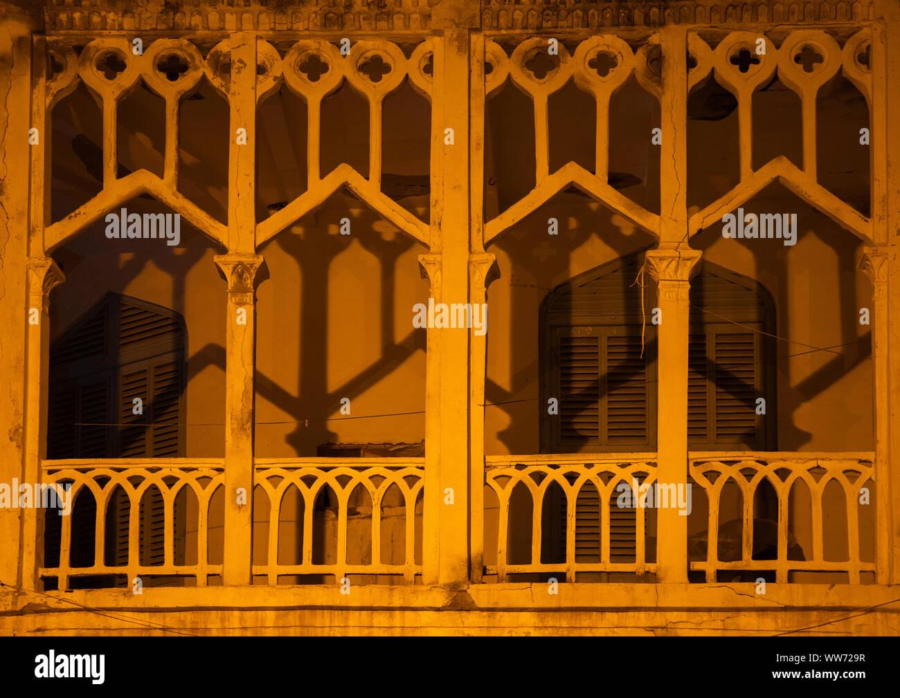 old Ottoman architecture building, Northern Red Sea, Massawa, Eritrea Stock Photo