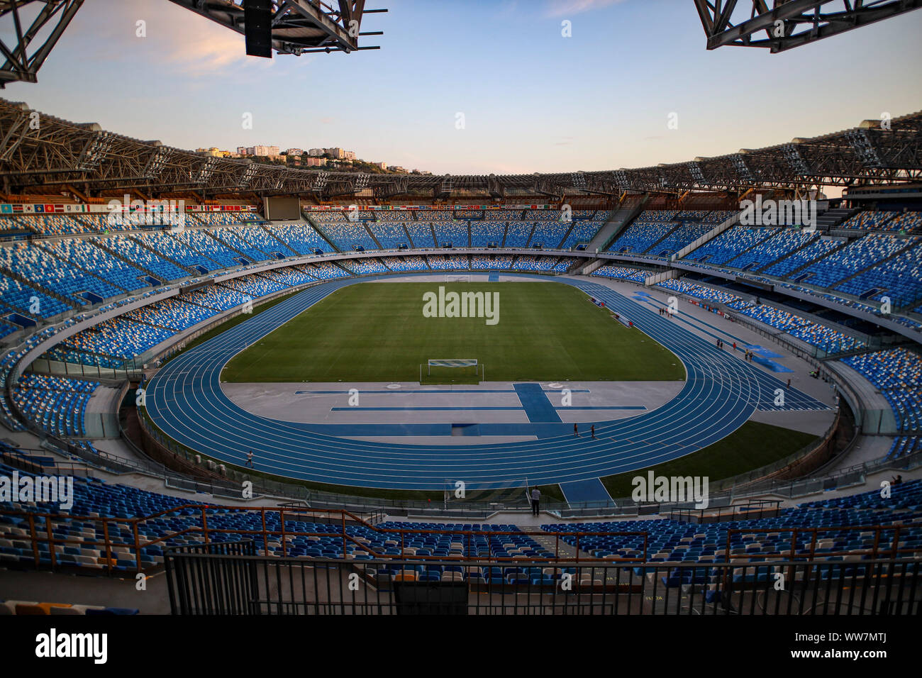 13th September 2019, San Paolo Stadium Fuorigrotta, Naples, Italy; The San  Paolo Stadium is opened to the public for the first time after major  renovations to the stadium - Editorial Use Only
