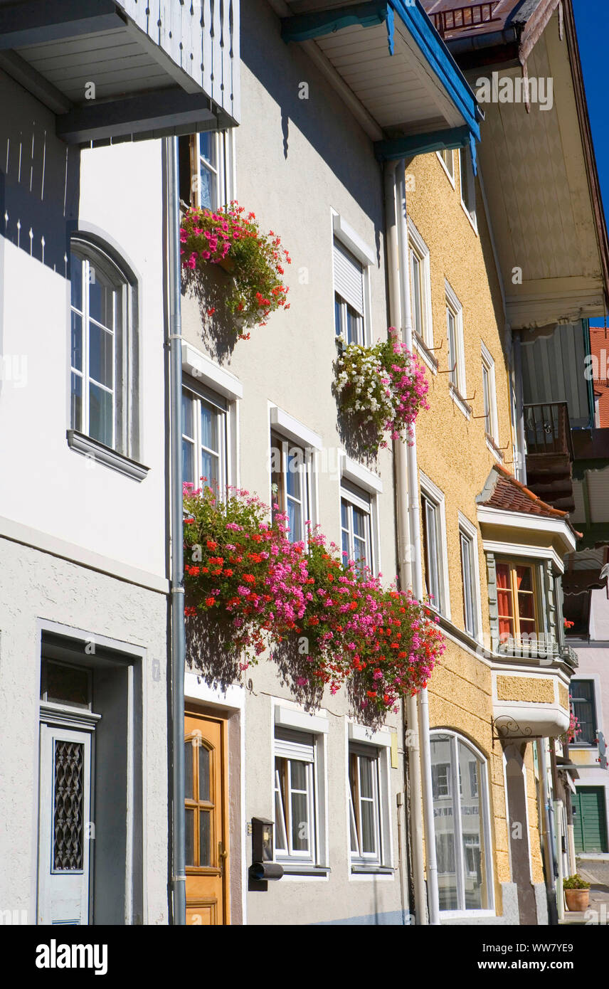 Old town in Bad Tölz Stock Photo