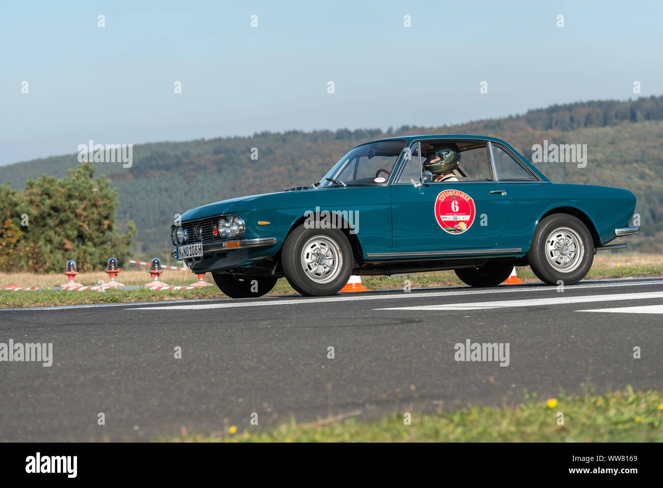 Michelstadt, Hesse, Germany, Lancia Fulvia 1,3S, 1300 ccm, 90 HP, year of manufacture 1972 on the event Pista & Piloti Stock Photo