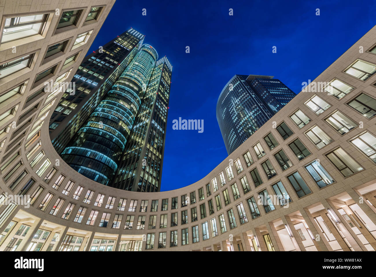 Frankfurt on the Main, Hesse, Germany, Tower 185 Stock Photo