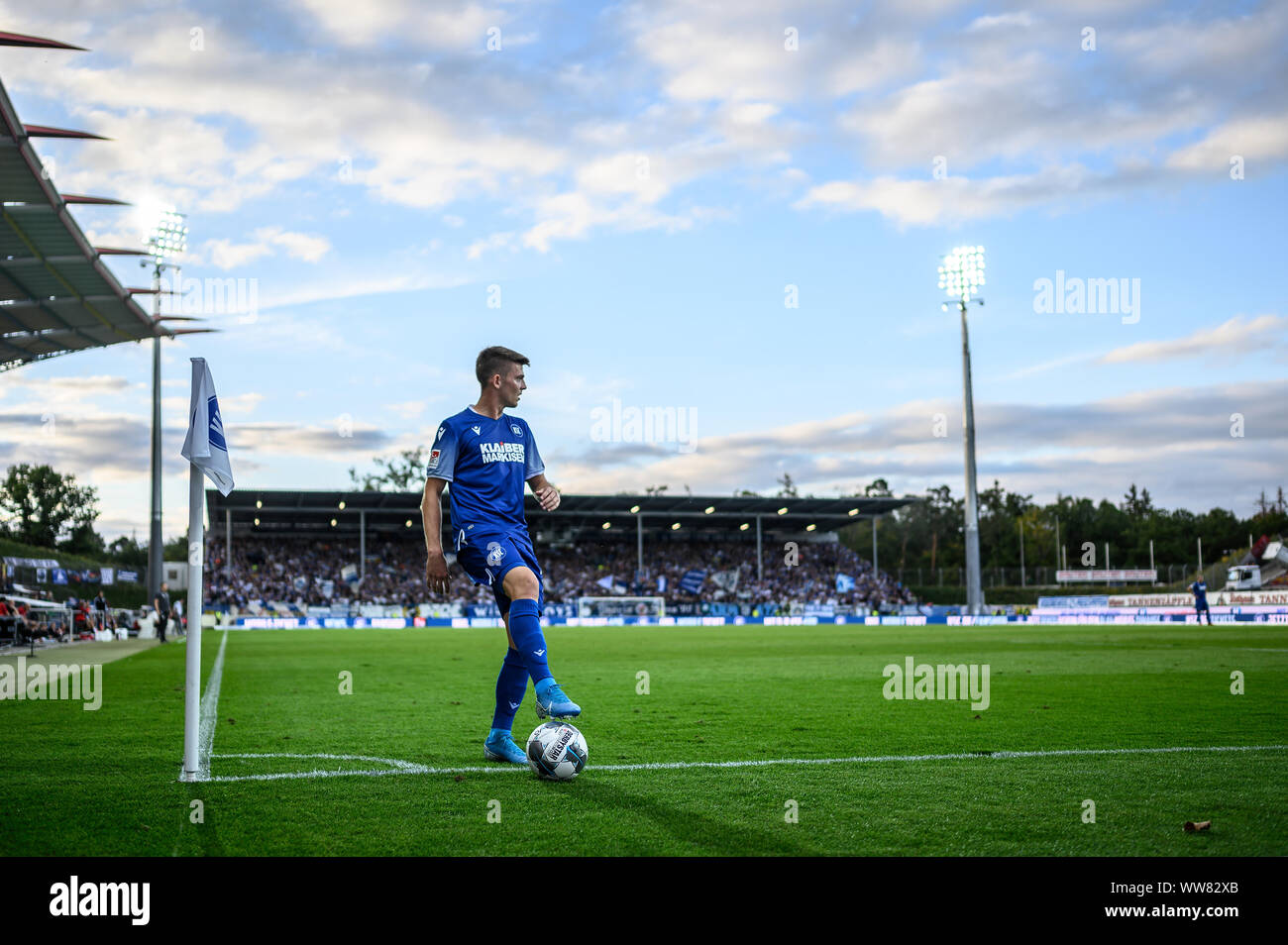 Marvin Wanitzek Ksc At The Corner Feature Ornamental Image Background Wallpaper Symbol Icon Image Ges Soccer 2 Bundesliga Karlsruher Sc Sv Sandhausen 13 09 2019 Football Soccer 2 League Karlsruher