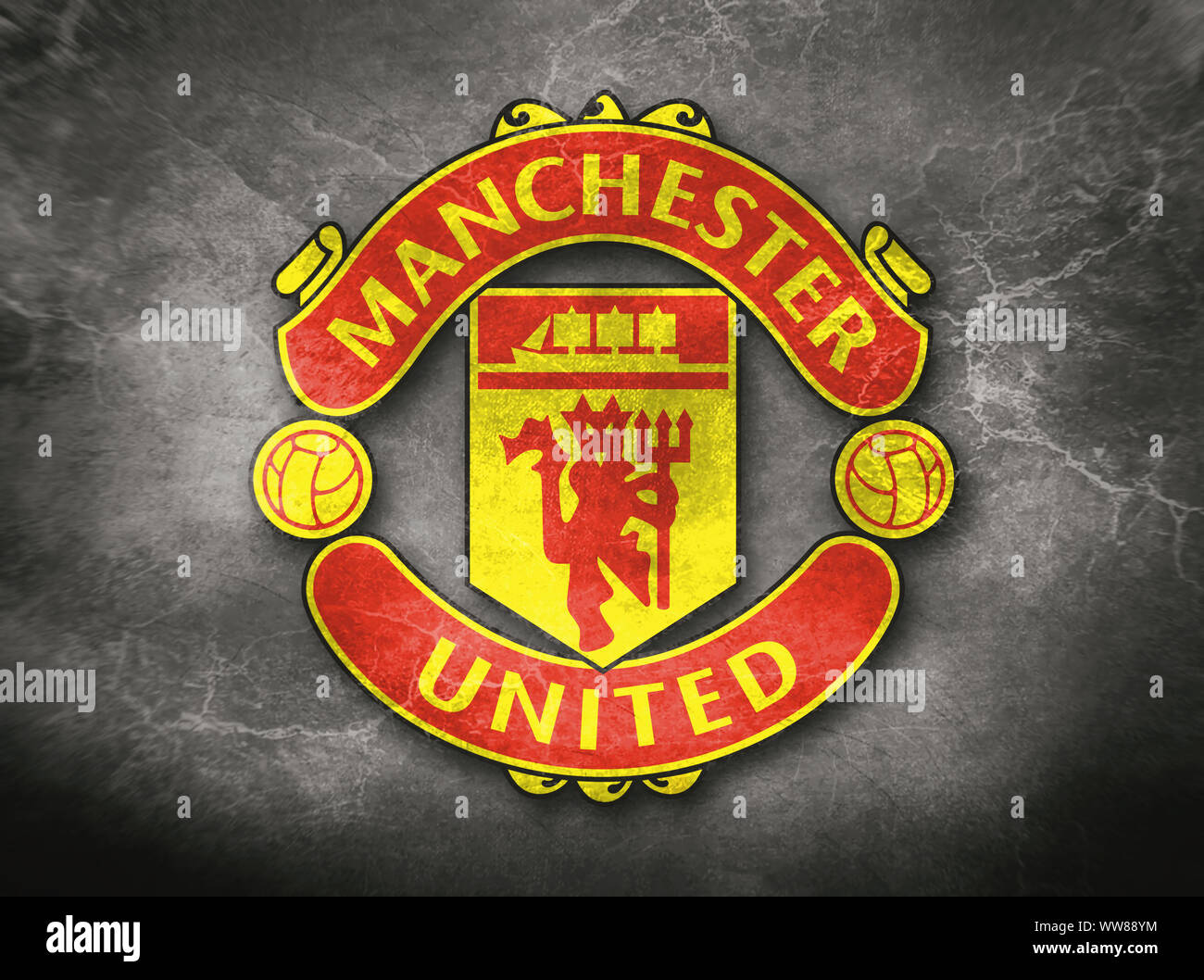 manchester coat of arms high resolution stock photography and images alamy https www alamy com coat of arms manchester united a football club from england a concrete background image273704584 html