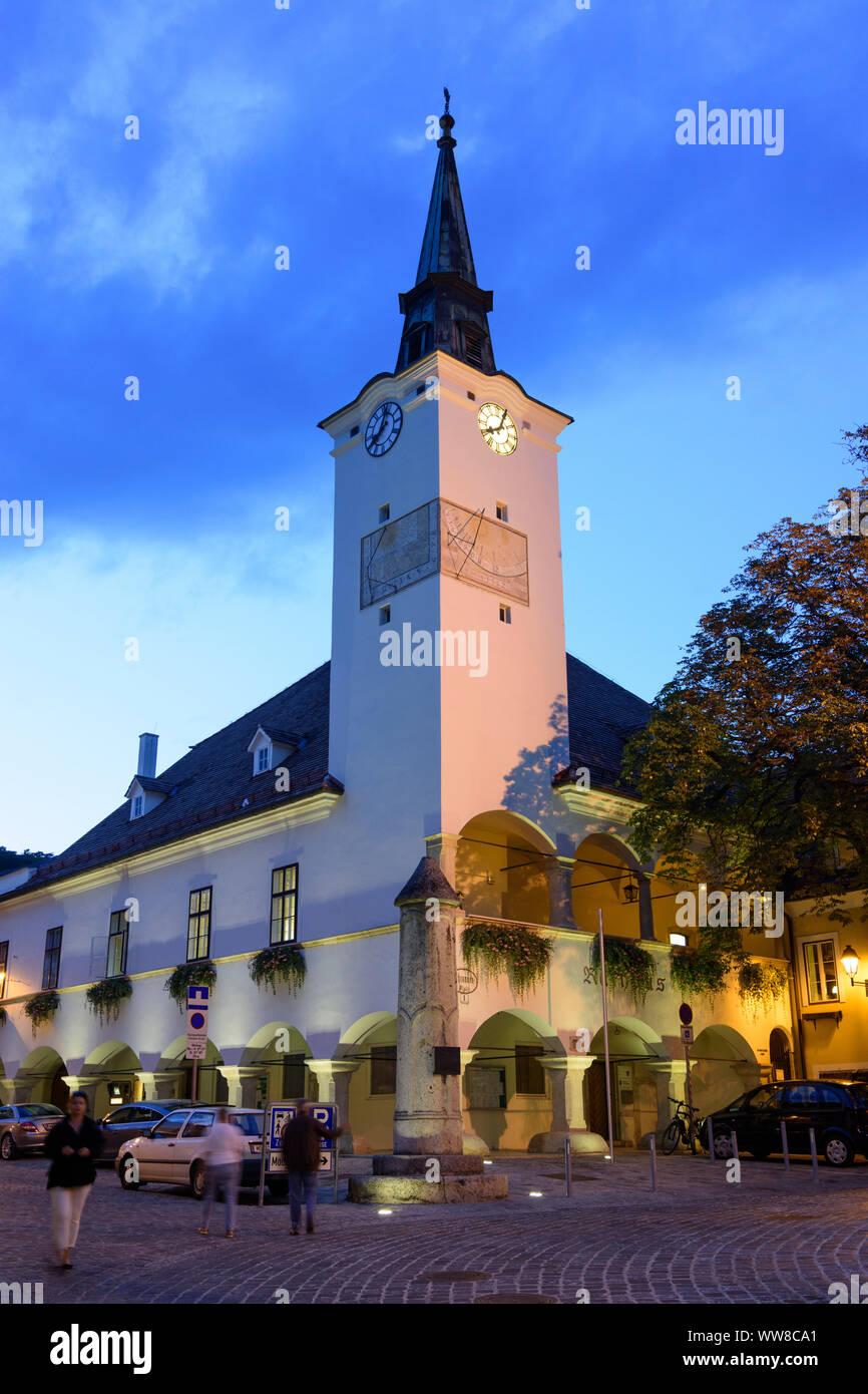 Gumpoldskirchen, Town Hall, street Wiener Straße, Wienerwald, Vienna Woods, Lower Austria, Austria Stock Photo