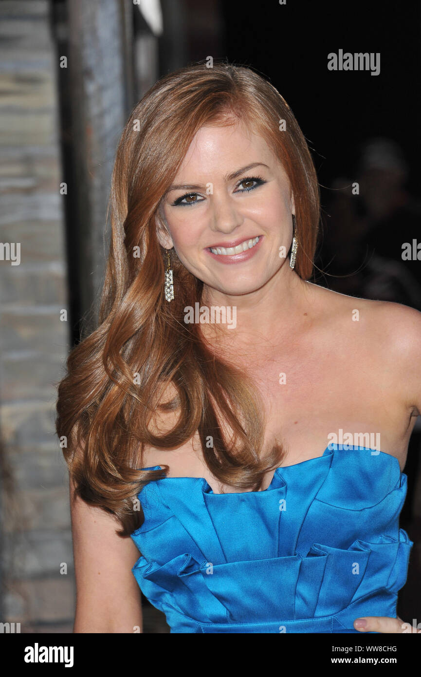 "LOS ANGELES, CA. February 14, 2011: Isla Fisher at the Los Angeles premiere of her new animated movie ""Rango"" at the Regency Village Theatre, Westwood. © 2011 Paul Smith / Featureflash Stock Photo"