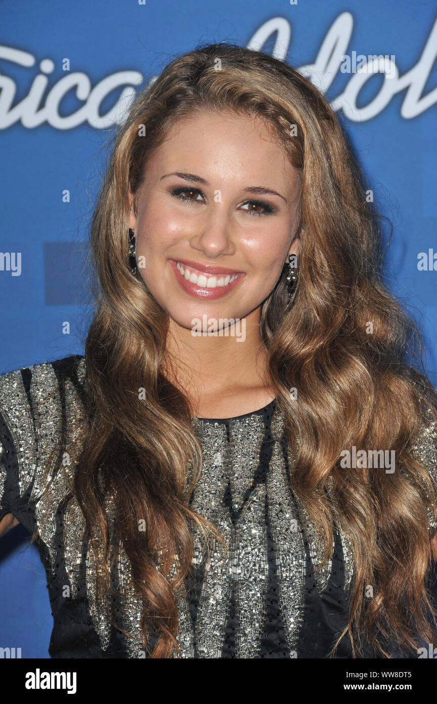 LOS ANGELES, CA. March 04, 2011: Haley Reinhart at the American Idol Finalists Party at The Grove Los Angeles. © 2011 Paul Smith / Featureflash Stock Photo