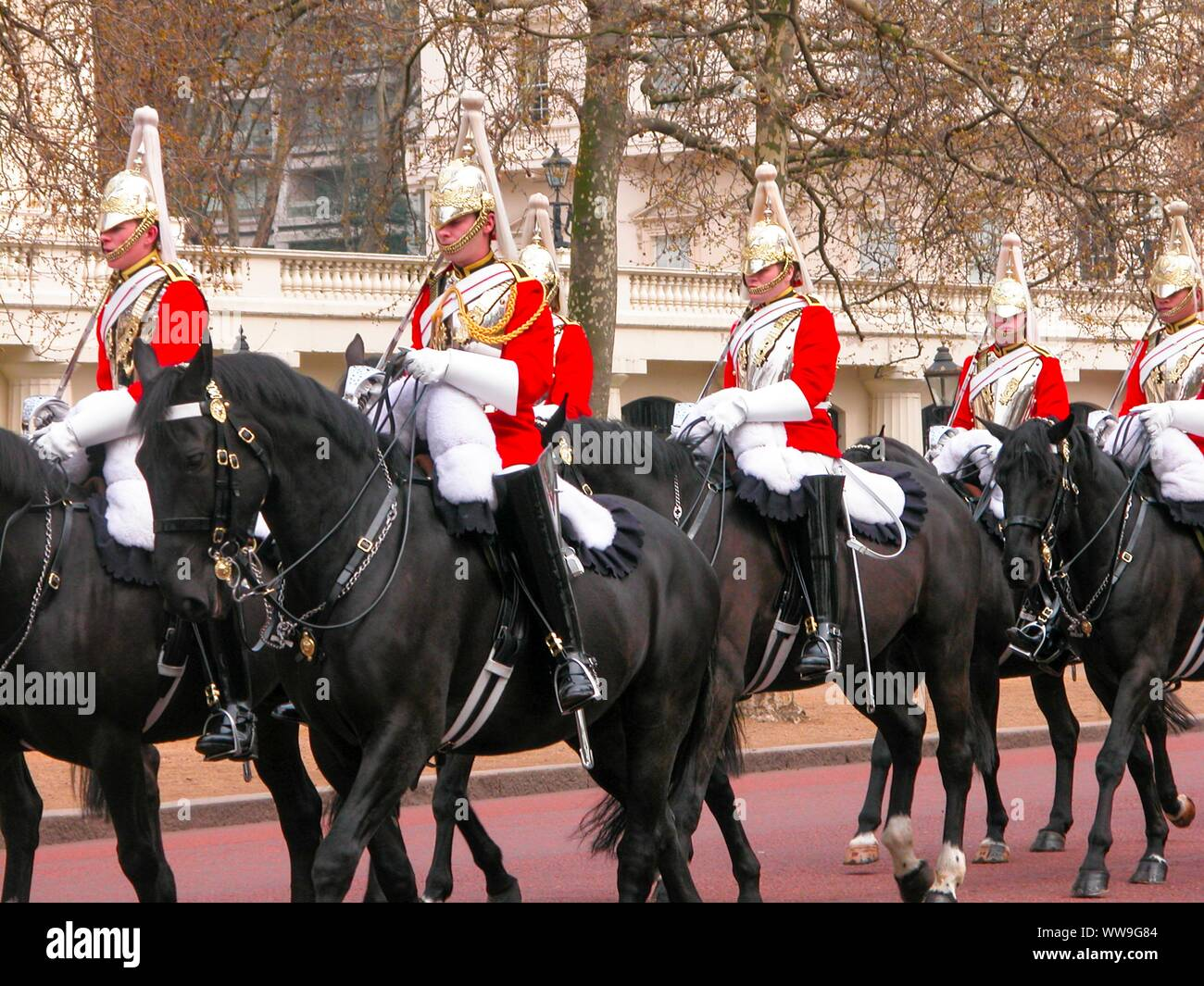Queen's horse guards in London Stock Photo