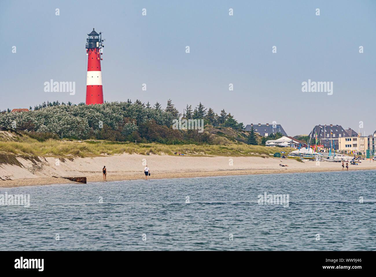 Lighthouse Hornum On The Island Sylt Germany Stock Photo