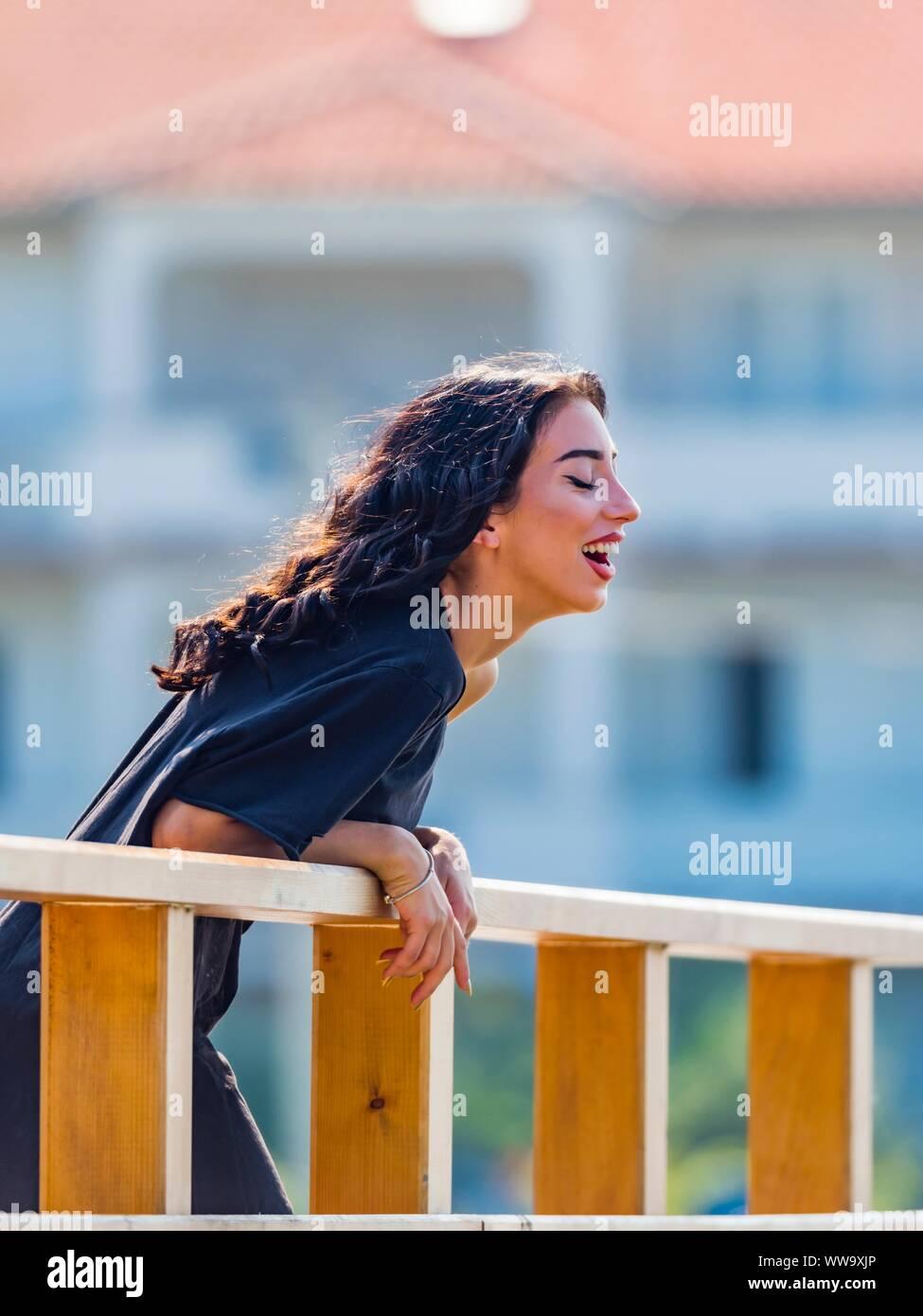 Teen girl is happy Stock Photo