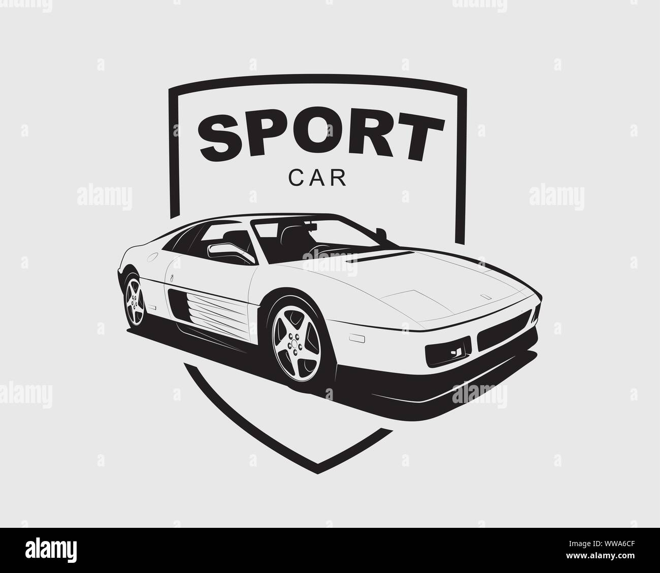 Supercar Vector Logo Sport Car Label Auto Garage Symbol Template Stock Vector Image Art Alamy