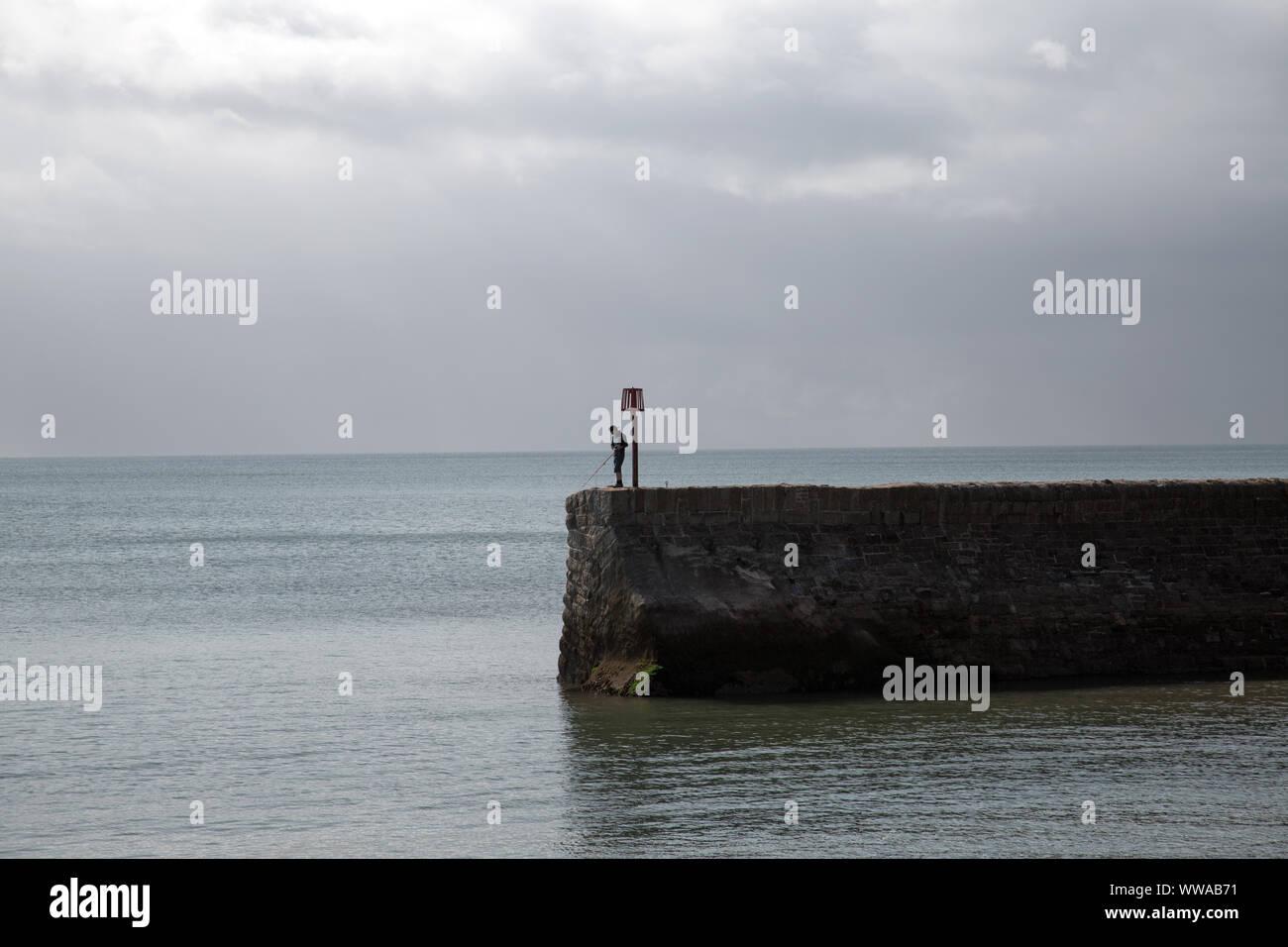 Lone Fisherman Stock Photo