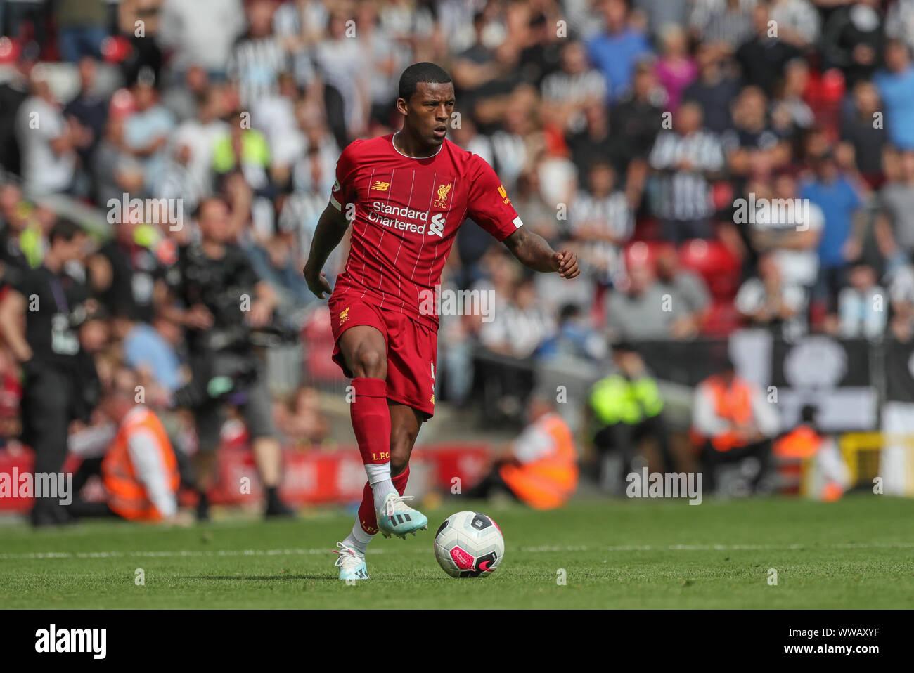 14th September 2019 , Anfield, Liverpool, England; Premier League Football,  Liverpool vs Newcastle United ; Georginio Wijnaldum (5)