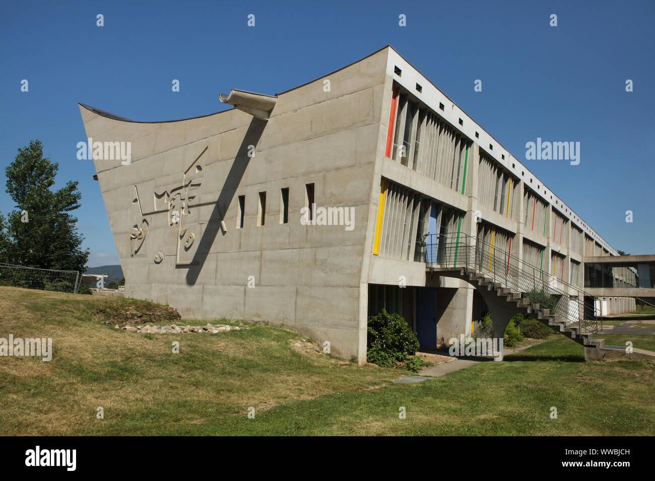 Cultural Centre Maison De La Culture De Firminy Vert Designed By Swiss Modernist Architect Le Corbusier 1965 In Firminy Near Lyon France Stock Photo Alamy