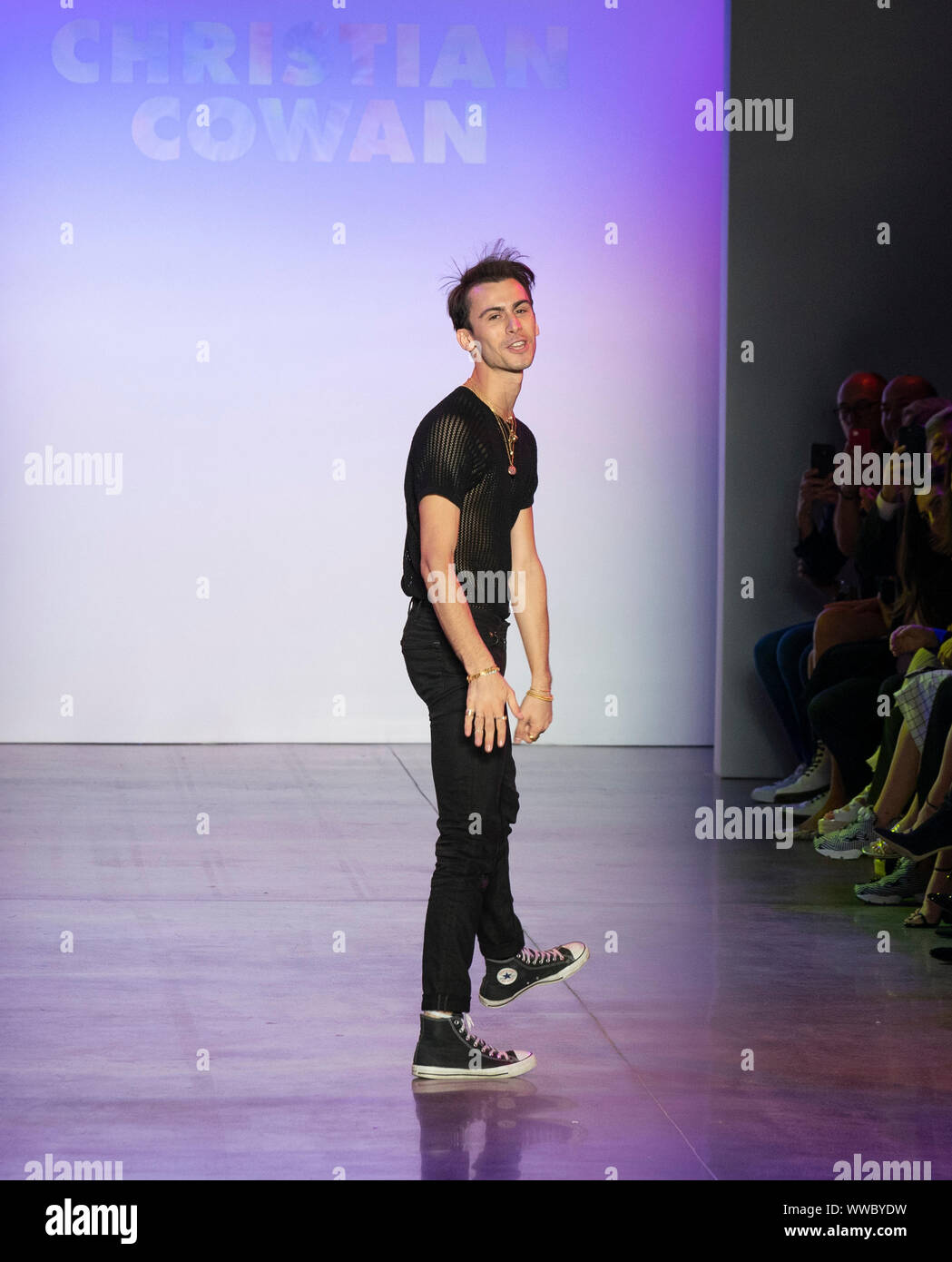 New York Ny September 10 2019 Designer Christian Cowan Walks Runway For Christian Cowan Show At Spring Summer 2020 Fashion Week At Spring Studios Stock Photo Alamy