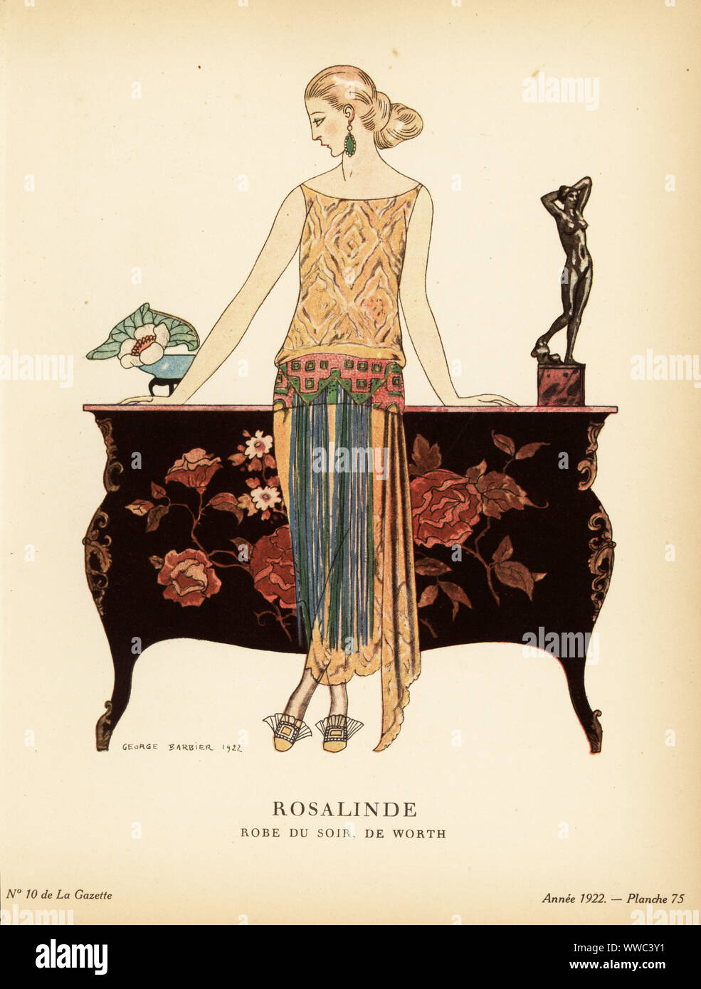 Dressing De Petite Fille george barbier pochoir stock photos & george barbier pochoir