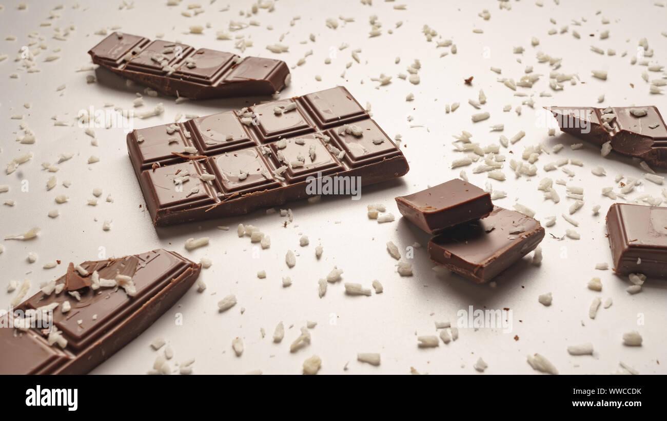 almonds coconut, homemade chocolate, chocolate cake, shutterstock, cherry, chocolate truffle, dark chocolate Stock Photo